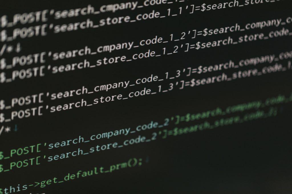 プログラミングの作業風景