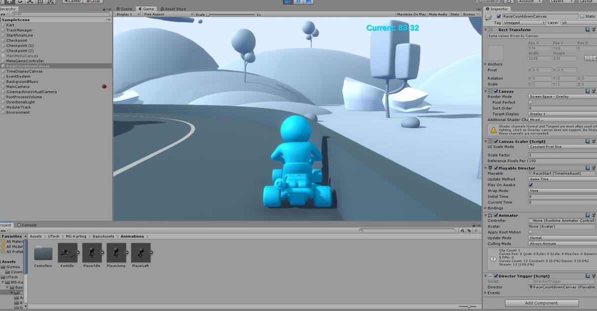unityのゲーム画面